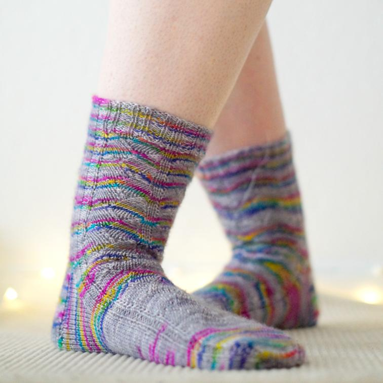 Happy Dance Socks Knitting Pattern