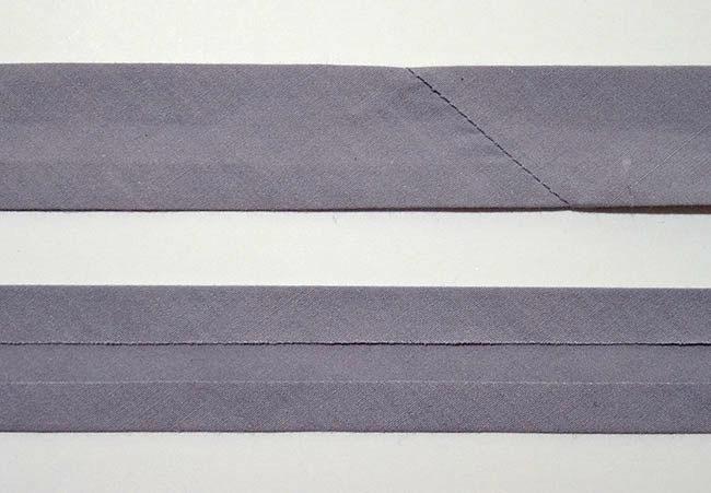 Gray Single Fold Bias Tape