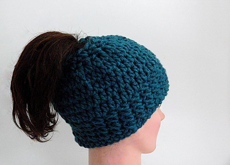 Arielle Chunky Bun Hat Crochet Pattern