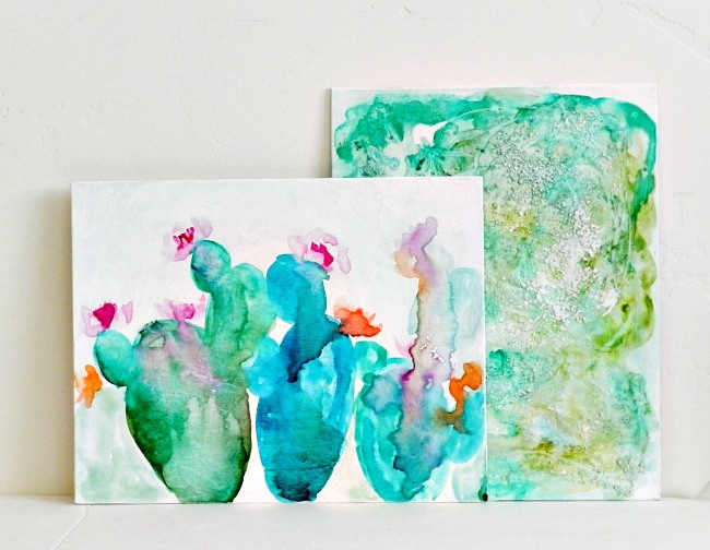 abstract watercolor paintings