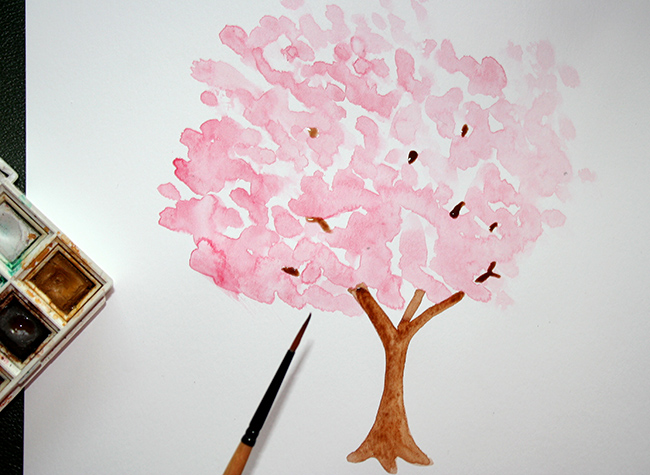 Add a trunk and branches