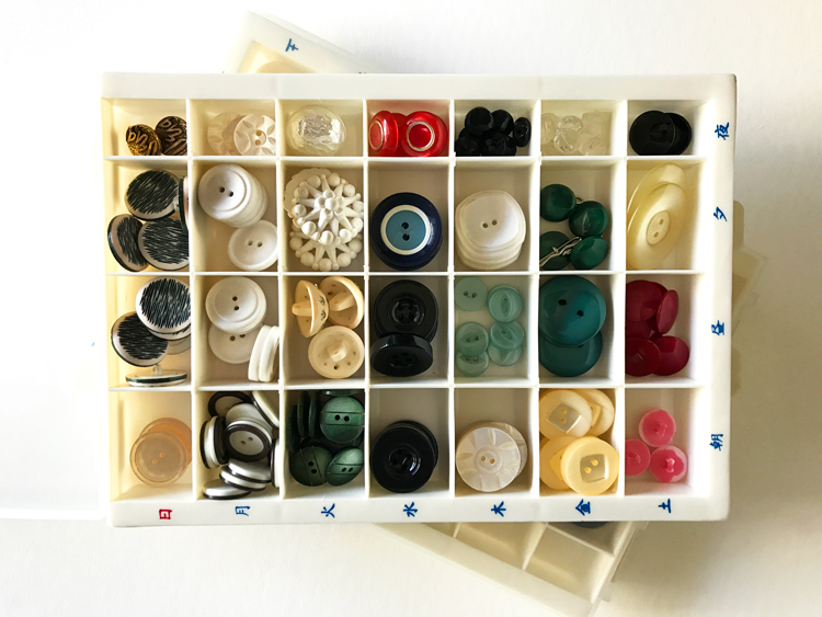 Buttons Stored in a Pill Tray