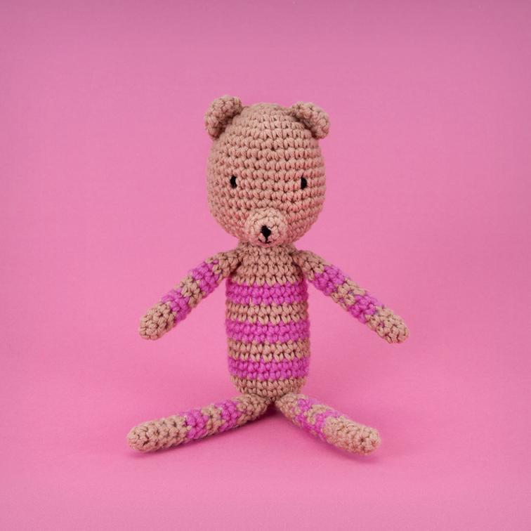 Strip Sid Crochet Teddy Bear Pattern