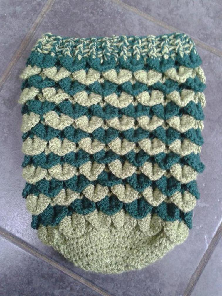Crocodile Stitch Newborn Cocoon Pattern