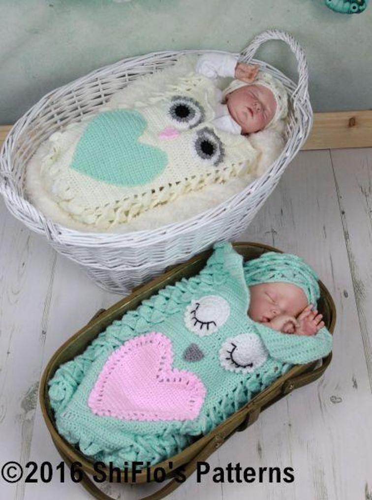 Croc Owl Baby Cocoon Crochet Pattern
