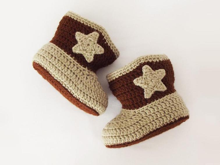 Cowboy Booties Crochet Pattern