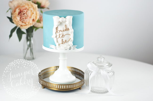 How to create an easy bridal shower cake