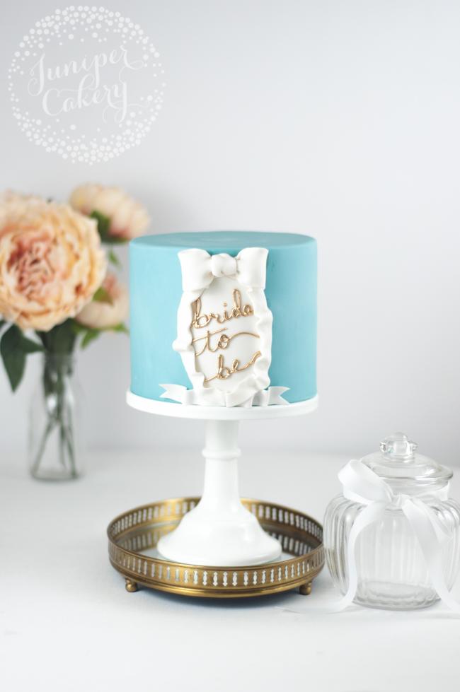 Bridal shower cake tutorial