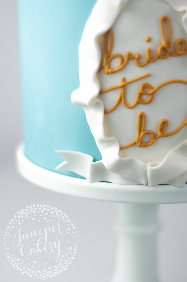 Easy Bridal shower cake step-by-step tutorial
