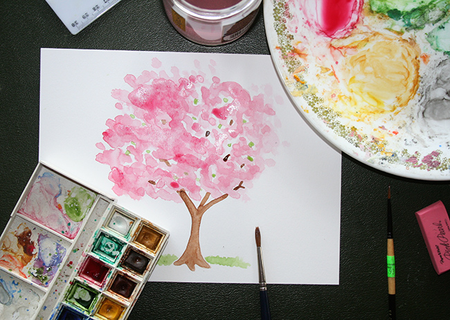 Cherry Blossom Painting Tutorial