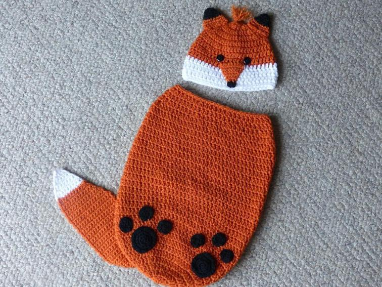 Finley the Fox Baby Cocoon Crochet Pattern