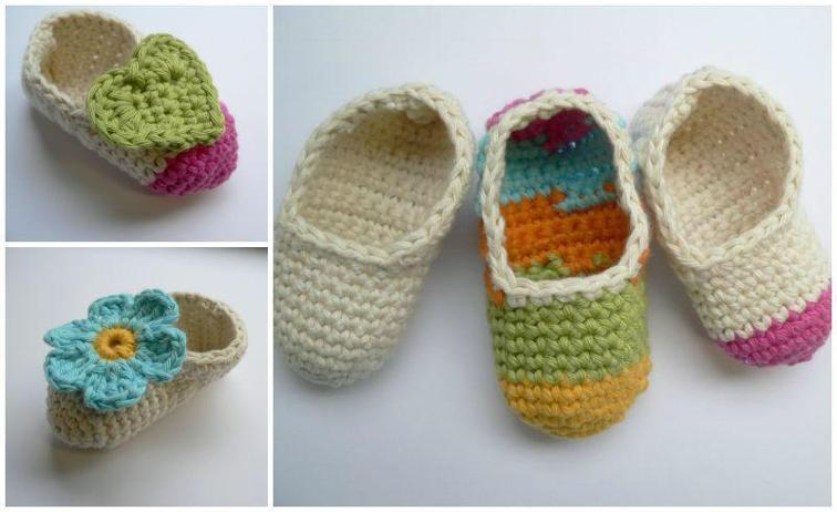 Simple Cute Baby Booties Crochet Pattern