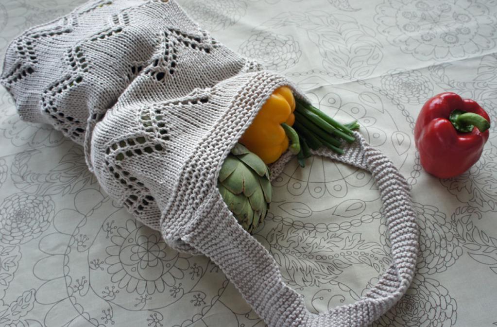 Market Tote Bag Free Knitting Pattern