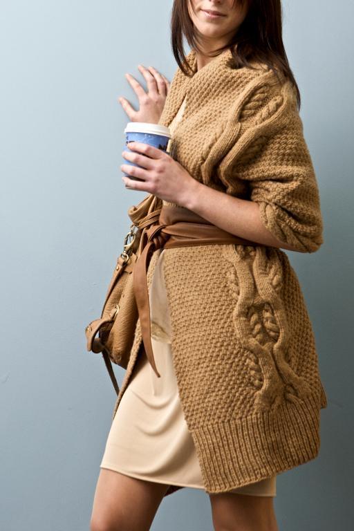 Aspen Cardigan Coat Knitting Pattern