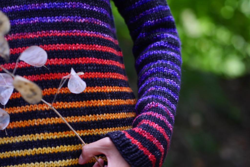 Rainbow Pullover Sweater Knitting Pattern
