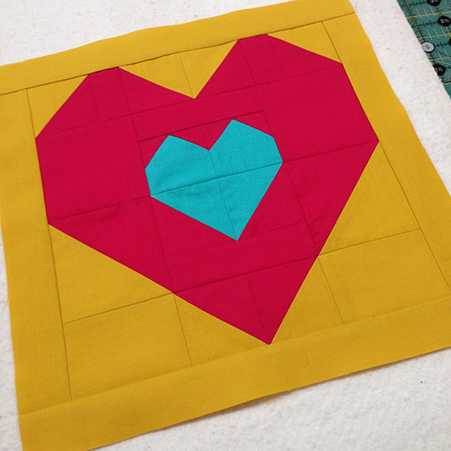 Love Within Finished Quilt Block