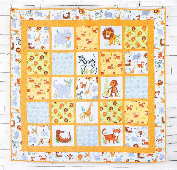 Wild Safari Quilt Kit