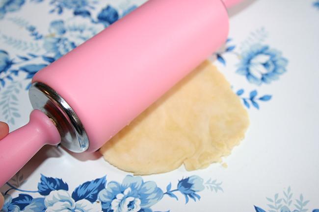 Rolling samosa dough