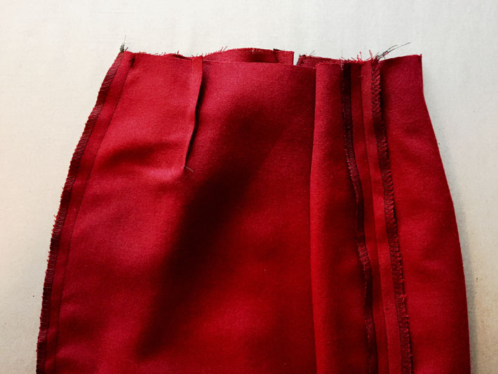 sew side seams pencil skirt