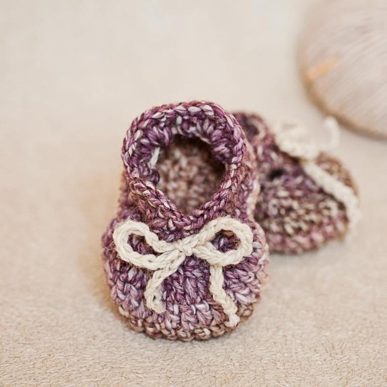 Simply Cute Baby Booties Crochet Pattern