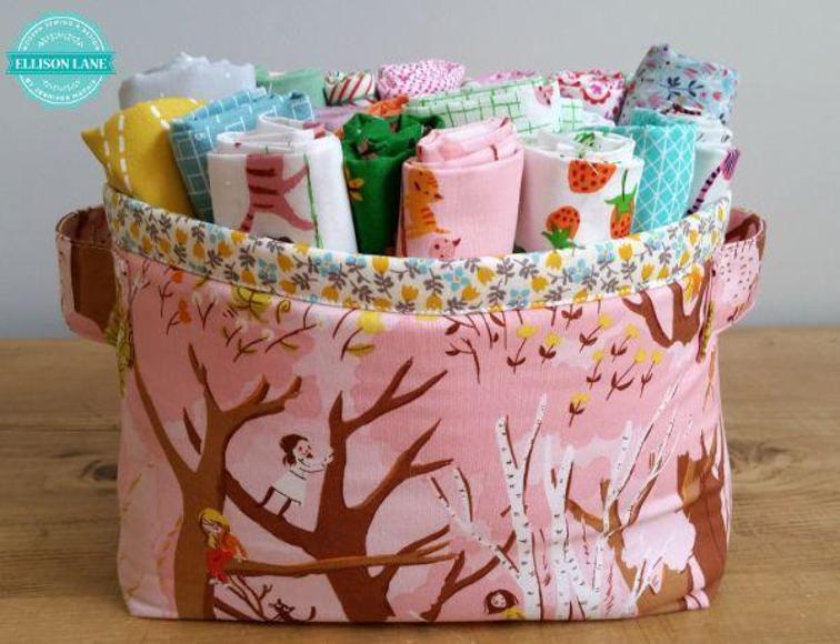 Fabric Basket Free Sewing Pattern