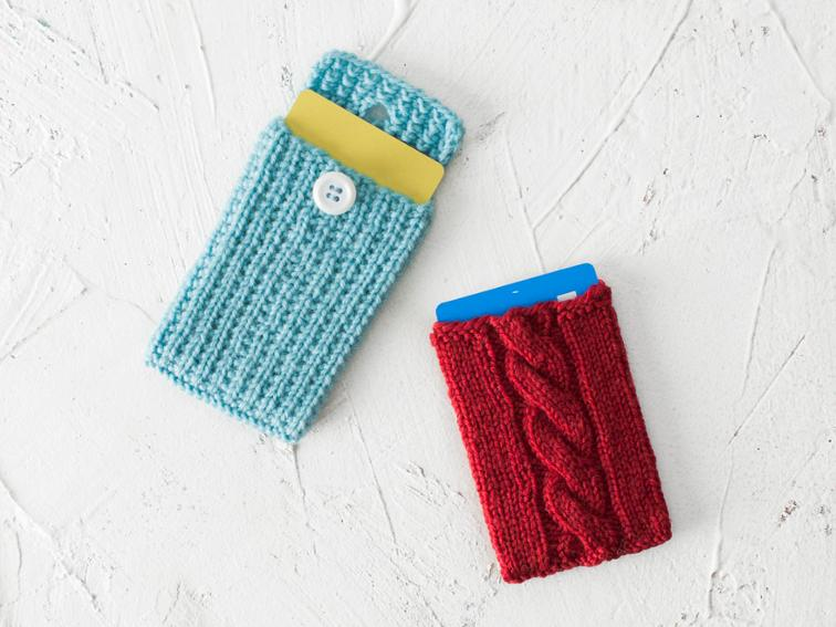 Mini skein card cozies knitting pattern