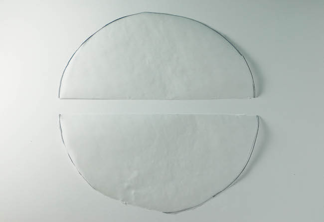 Waxed Paper Circle Cut in Half