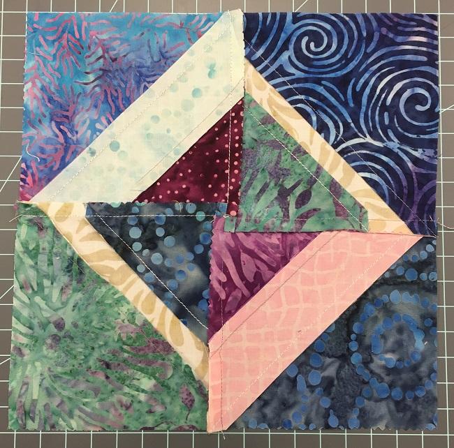 Back of Pieced Batik Blocks