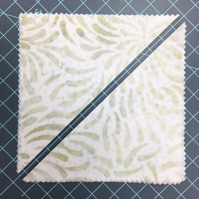 Light Square Cut on the Diagonal