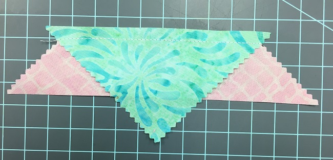 Sew Triangle and Strip Together