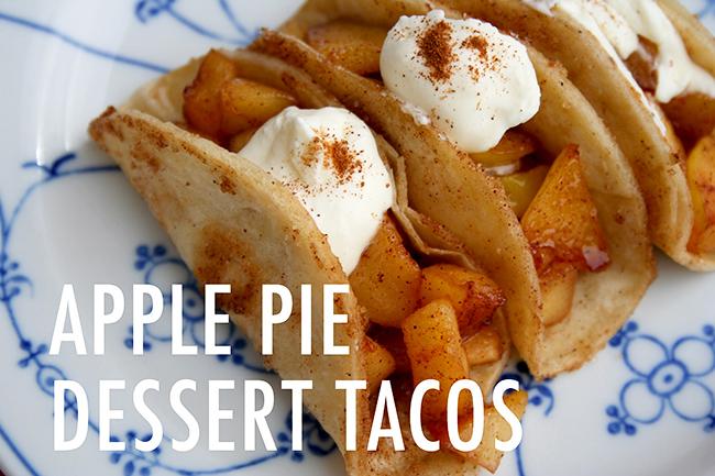 Homemade Apple Pie Tacos