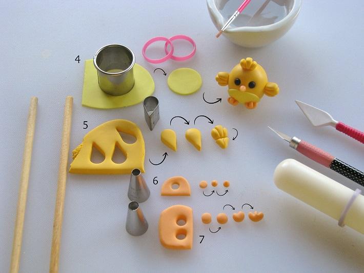 Easter Cupcake tutorial step 2