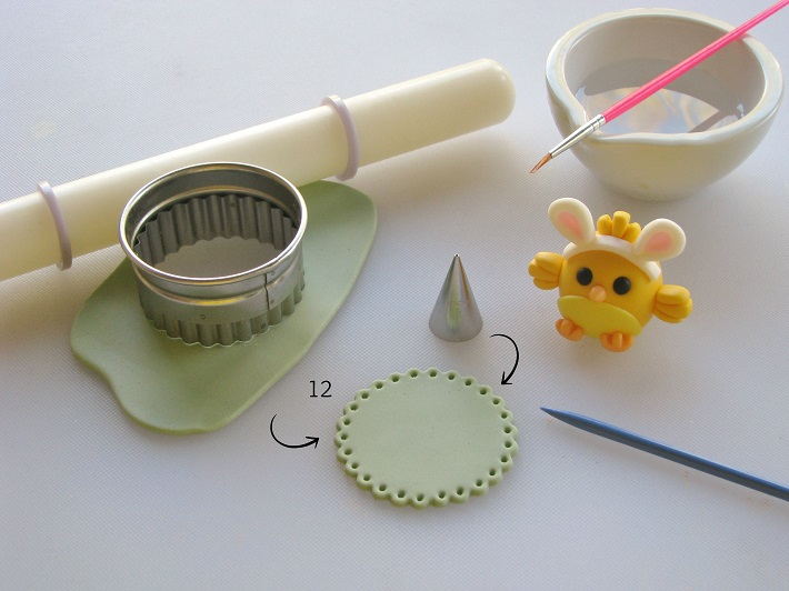 Easter Cupcake tutorial step 4