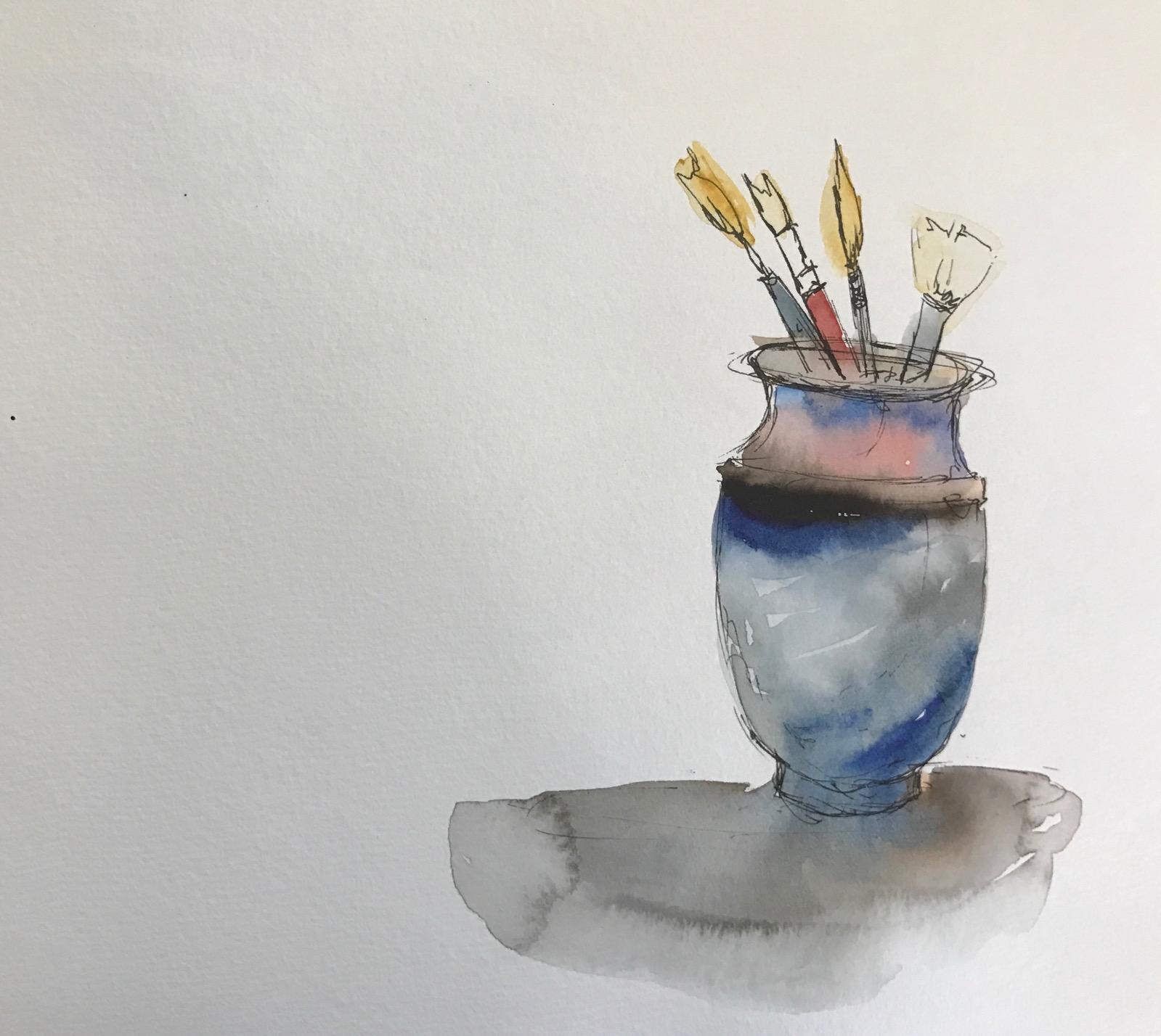 Watercolor Still Life Sketch