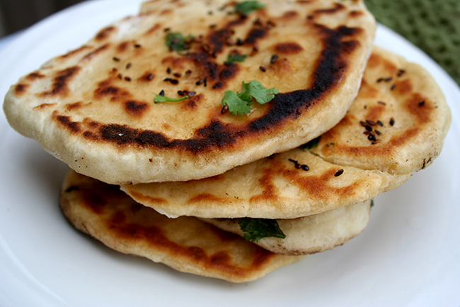 Homemade Kulcha Flatbread