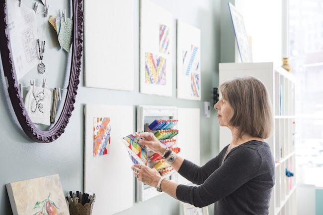 Nancy Smith at Design Wall