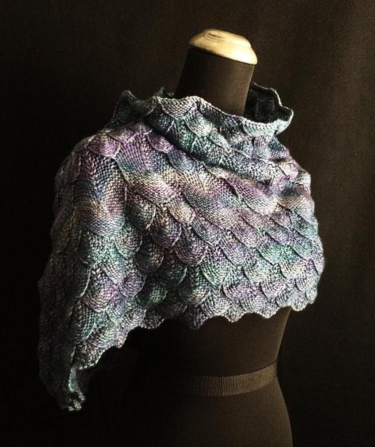 Azure Dragon Cowl Knitting Pattern