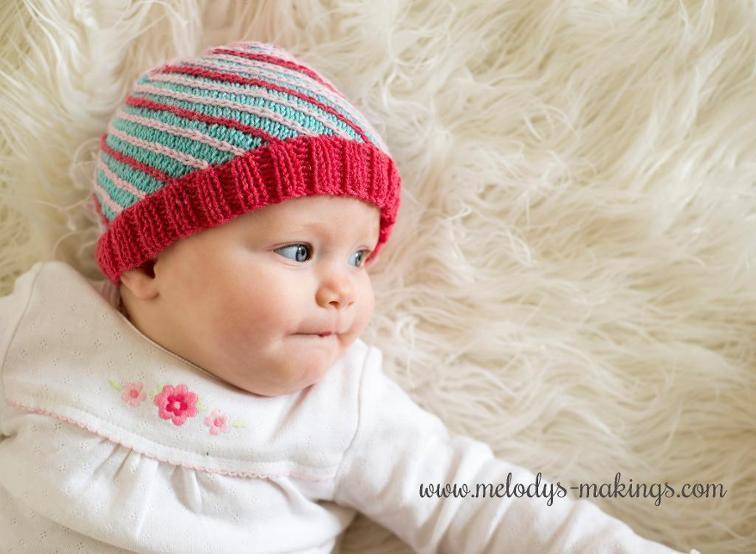 Bias Beanie Knitting Pattern