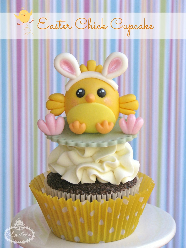 chick easter cupcake tutorial