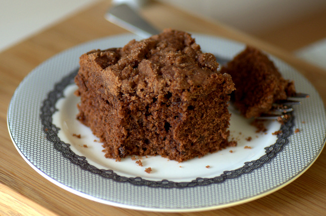 Chocolate Coffee Cake with Chocolate Struesel