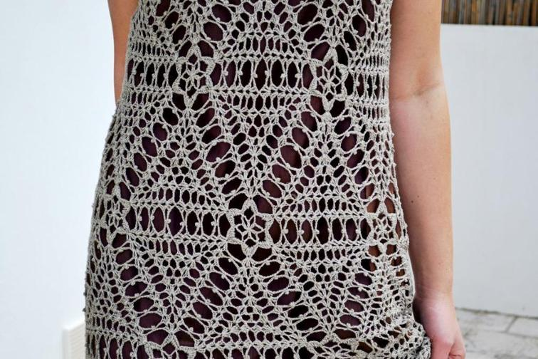 crochet dress join as you go