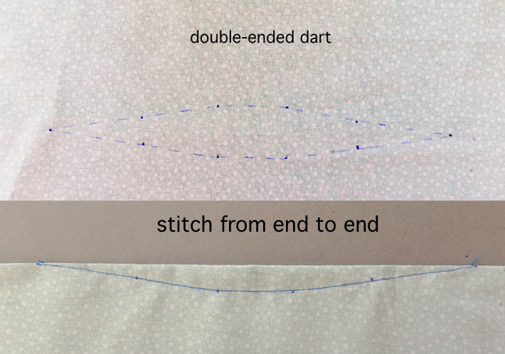 double ended dart stitched