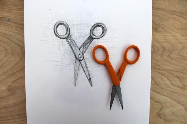 drawing of scissors