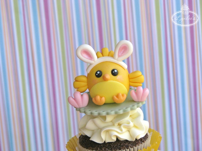 easter chick cupcake tutorial