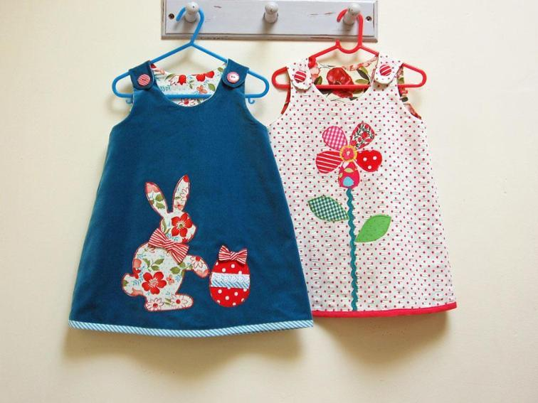 Easter Bunny and Petal Reversible Dress Sewing Pattern