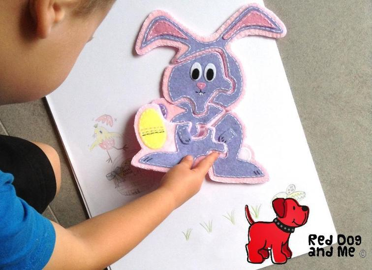 Easter Bunny Soft Toy Puzzle Sewing Pattern