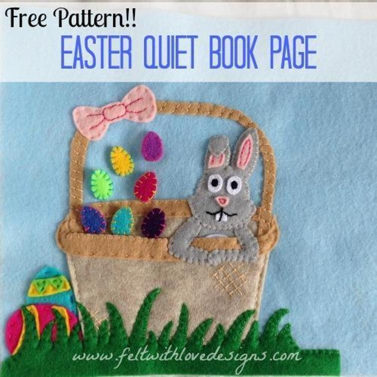 Easter Quiet Book Page Sewing Pattern