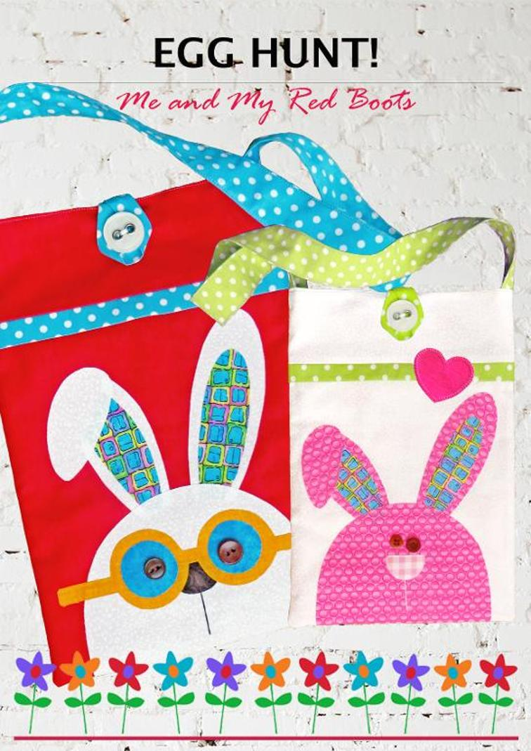 Egg Hunt Easter Bunny Bags Sewing Pattern
