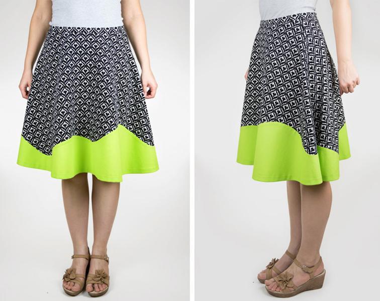 Half-Circle Skirt with Wavy Hem