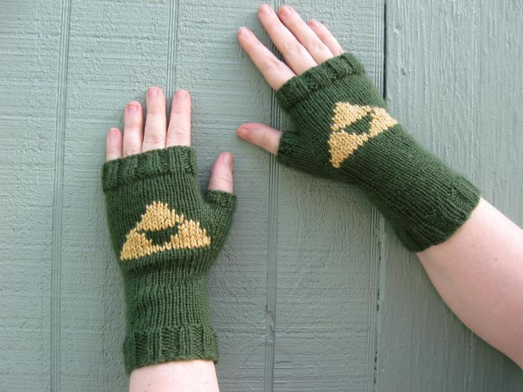 Fingerless Zelda Gloves Knitting Pattern